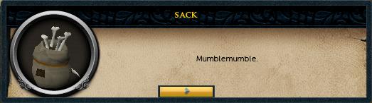 A mumbling sack