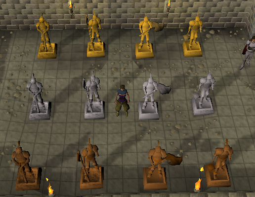 Pick out the statue that has been added