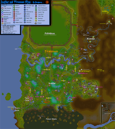 Map of the Elvish lands of Isafdar