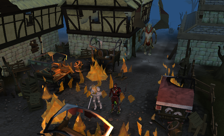 Draynor in ruins after the Dragonkin attack