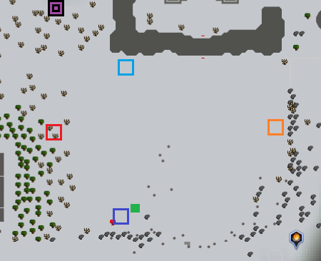 Map of the ritual area