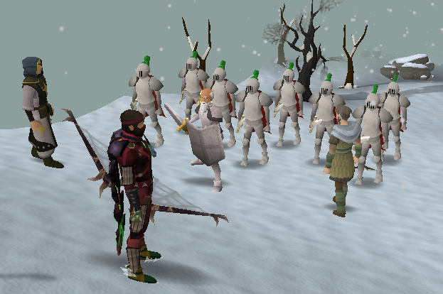 The army of troops waiting for orders