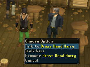 Talk to brass hand harry