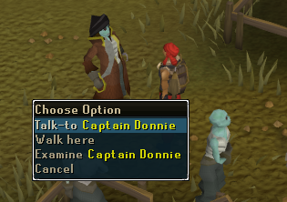 Talk to captain donnie