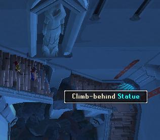 Rune Mysteries - 'Climb-behind' statue