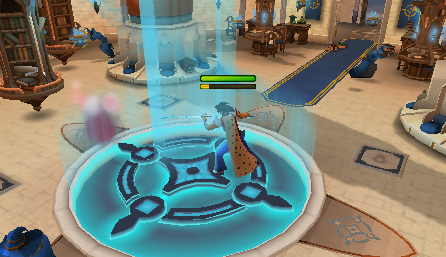 Rune Mysteries - Cast Air Strike on the magical vortex to lead it into the blue beam of light