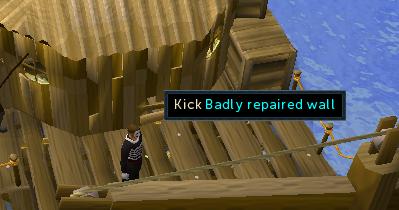 Kick Badly-Repaired Wall