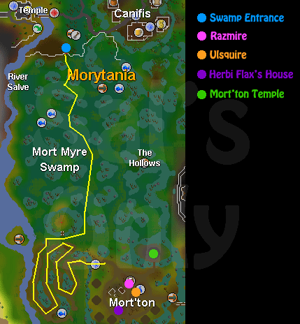 A map to mort'ton