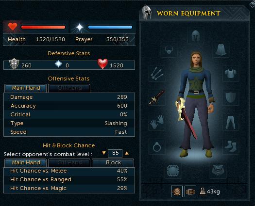 Darklight Equipment Bonuses