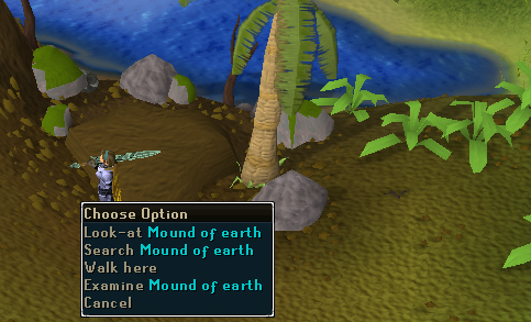 Mound of earth
