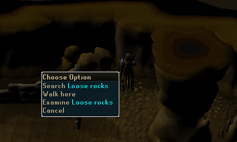 Search loose rocks