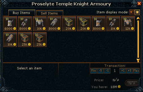 Proselyte Armor