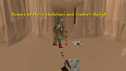 Beware of the skeletons and zombies inside!