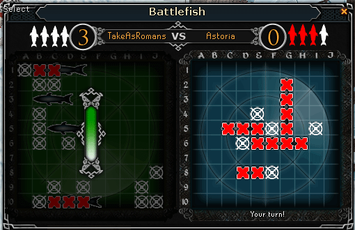 Some Like it Cold - Battlefish game interface