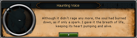 Song From the Depths - Haunting Voice: Although it didn't rage any more, the soul had burned down, as if only a spark.