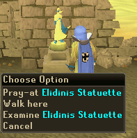 Pray at the Elidinis Statuette