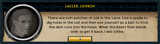 Jallek Lenkin: There are soft patches of soil in this cave.