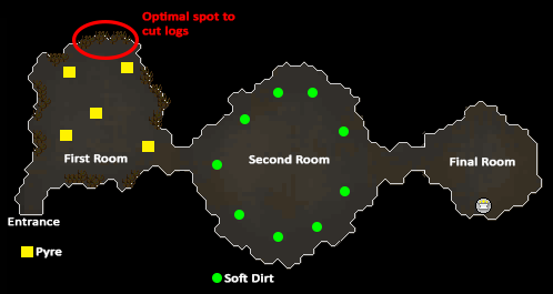 A map of the cave