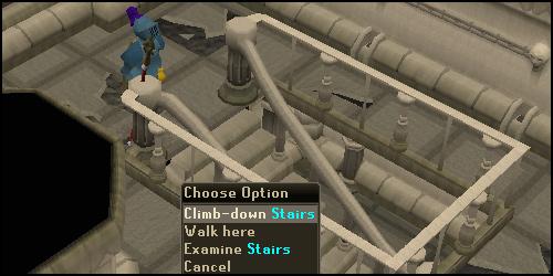 Climb down Stairs