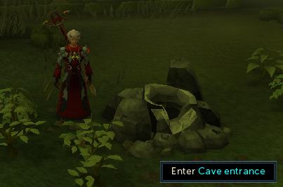 Climb into the cave