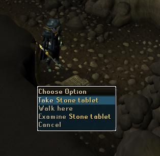 Take stone tablet