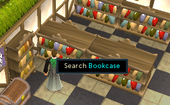 Search the bookcases for a beaten book