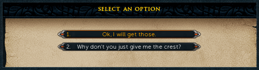 Select an Option: Ok, I will get those.