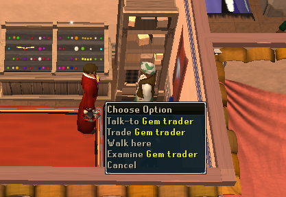 Talk to Gem Trader