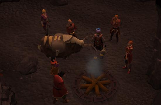 Light the fire pit