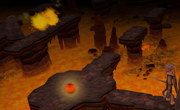 The Lava Maze room