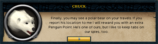 Chuck: Finally, you may see a polar bear on your travels.
