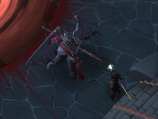 Drakan gets speared by Vanescula.