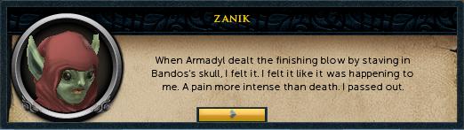 Zanik: ...I felt it like it was happening to me...