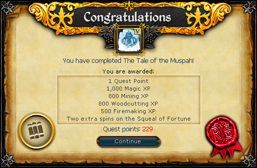 Congratulations! You have completed The Tale of the Muspah!