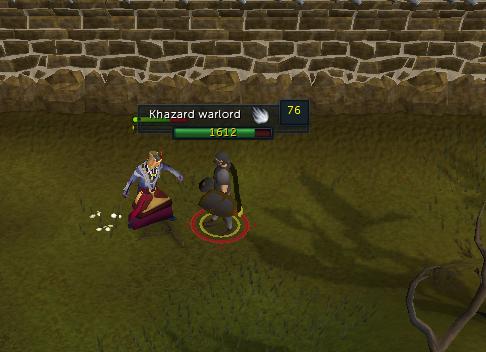 Talk to Khazard Warlord