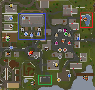 Map of East Ardougne