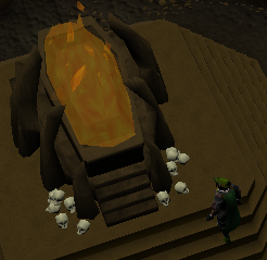 Burning tomb