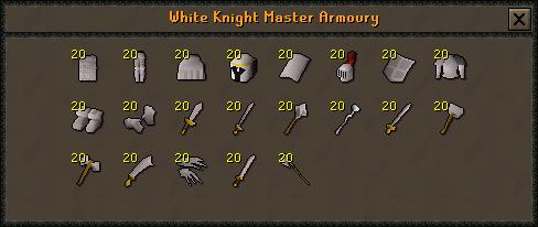 White Knight Master Armoury
