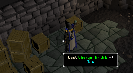 Cast charge air orb on tile