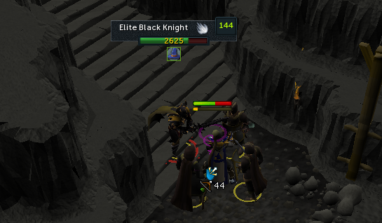 Attack elite black knight