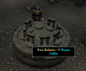 Use dolmen on stone table