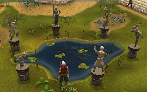 Falador park fallen heroes statues