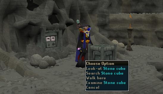 Search stone cube