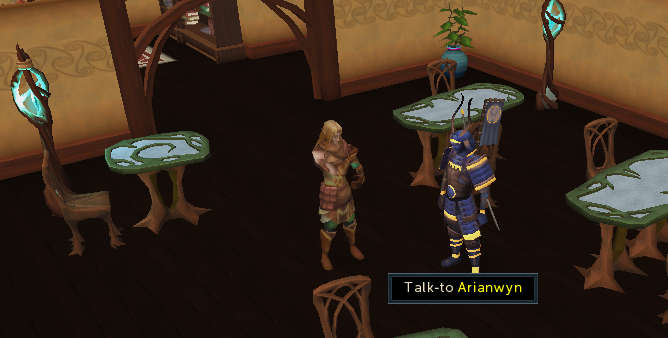 Talk to Arianwyn to begin the quest