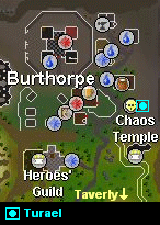 Map of the burthorpe area
