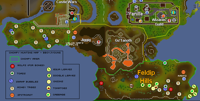 Map of the chompy hunting grounds
