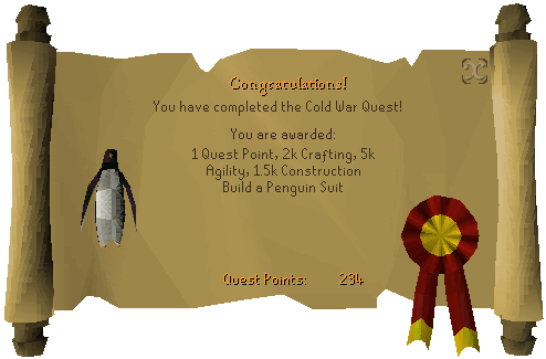 Congratulations, Cold War quest complete!