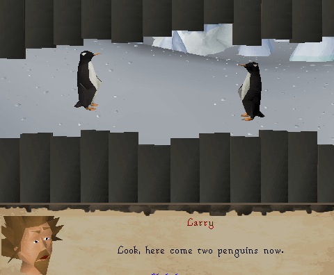 Look, here come two penguins now