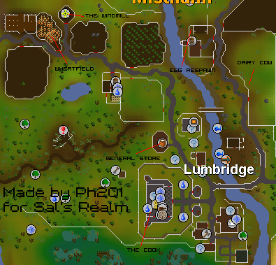 Map of helpful places