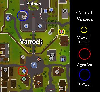 Quest start map